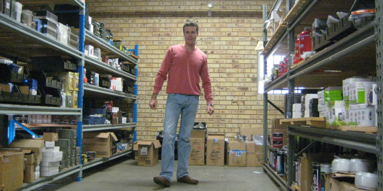 Stock sitting at outsourced logistics warehouse. (circa 2010)
